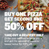 Boston Pizza: Buy One Get One 50% Off Medium or Large Pizzas (Delivery or Takeout Only)