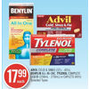 Advil Cold & Sinus, Benylin All-in-One, Tylenol Complete Liquid Or Caplets - $17.99