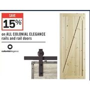 All Colonial Elegance Rails And Rail Doors - 15% off
