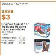 Originale Augustin or Traditions Mega Ice Cream Sandwiches - $11.99 ($3.00 off)