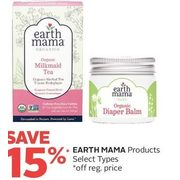 Earth Mama Products - 15% off