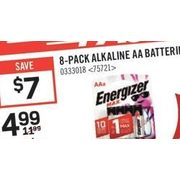 Energizer 8-Pack Alkaline AA Batteries - $4.99 ($7.00 off)