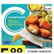 Compliments Cod Nuggets or Boxed and Breaded Fish - $5.99