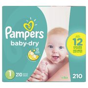 Pampers Baby-Dry, Cruisers or Swaddlers Super Econo Diapers or Huggies Snug & Dry or Little Movers or Little Snugglers Mega Coloss