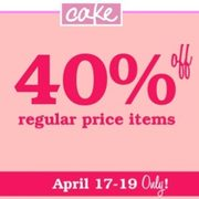 Cake Beauty: 40% Off All Regular-Priced Items Through April 19